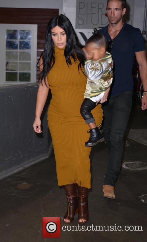 Kim Kardashian and North West 1
