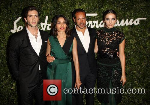 Ethan Peck, Freida Pinto, Massimiliano Giornetti and Camilla Belle 1