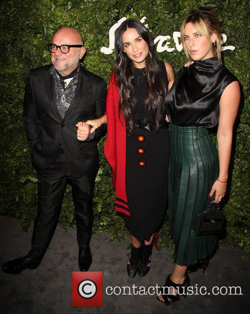 Eric Buterbaugh, Demi Moore and Scout Willis 1