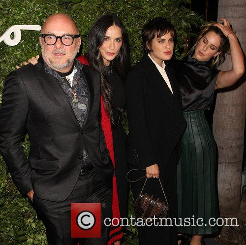 Eric Buterbaugh, Demi Moore, Tallulah Willis and Scout Willis 2