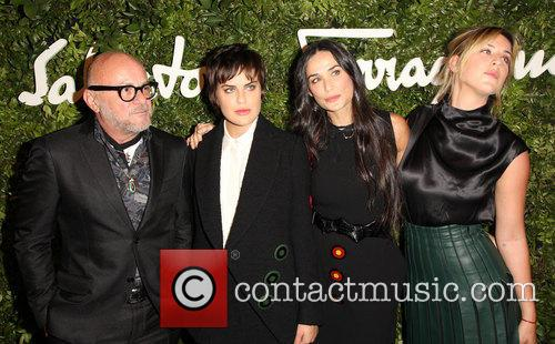 Eric Buterbaugh, Demi Moore, Tallulah Willis and Scout Willis 1