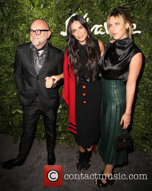 Eric Buterbaugh, Demi Moore and Tallulah Willis 1