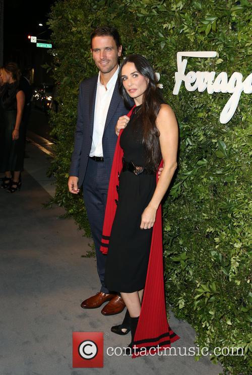James Ferragamo and Demi Moore 2