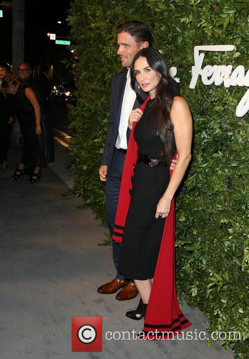 James Ferragamo and Demi Moore 1