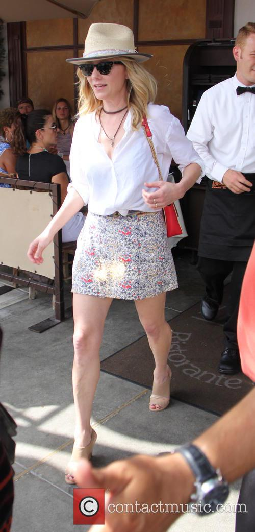 Anne Heche leaving a restaurant in Beverly Hills