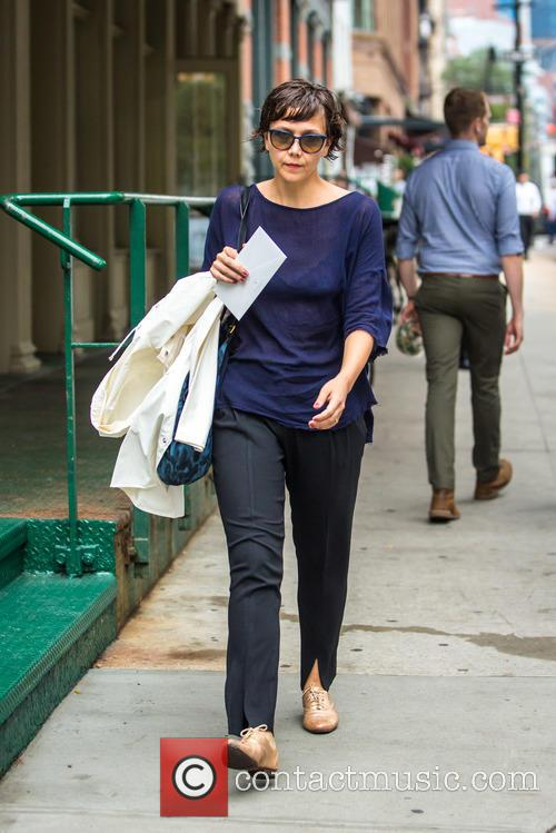 Maggie Gyllenhaal out and in Tribeca