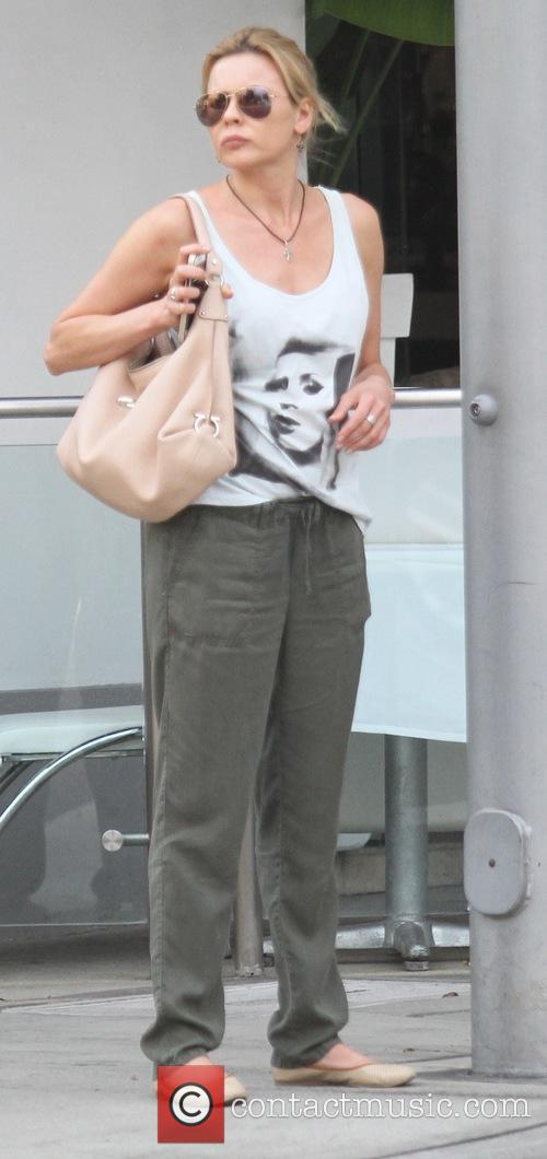 Olivia d'Abo goes shopping in Beverly Hills