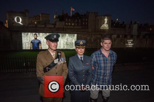 Sargeant James Davies, Carol Vorderman and Lance Corporal Scott Yarrington 2