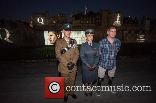 Sargeant James Davies, Carol Vorderman and Lance Corporal Scott Yarrington 3