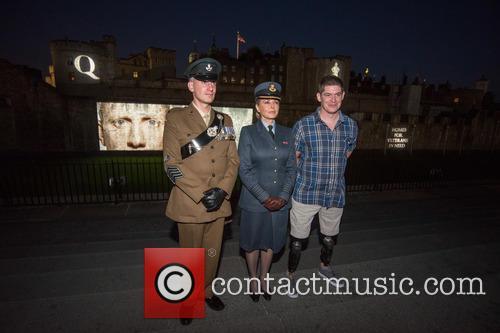 Sargeant James Davies, Carol Vorderman and Lance Corporal Scott Yarrington 1