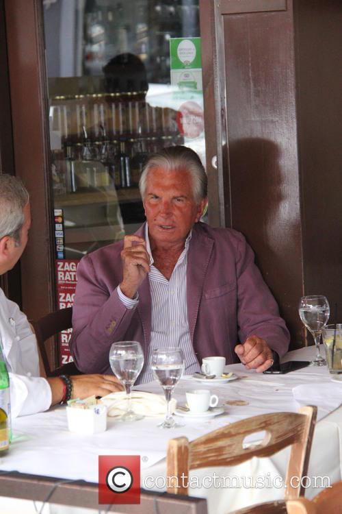 George Hamilton steps out for lunch in Beverly...
