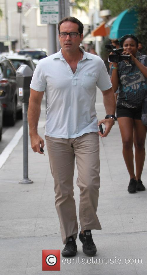 Jason Patric heads to a doctor's office in...