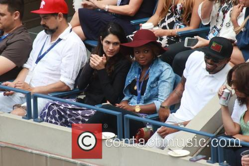 Celebrities attend the Semi-finals of the 2015 Tennis...