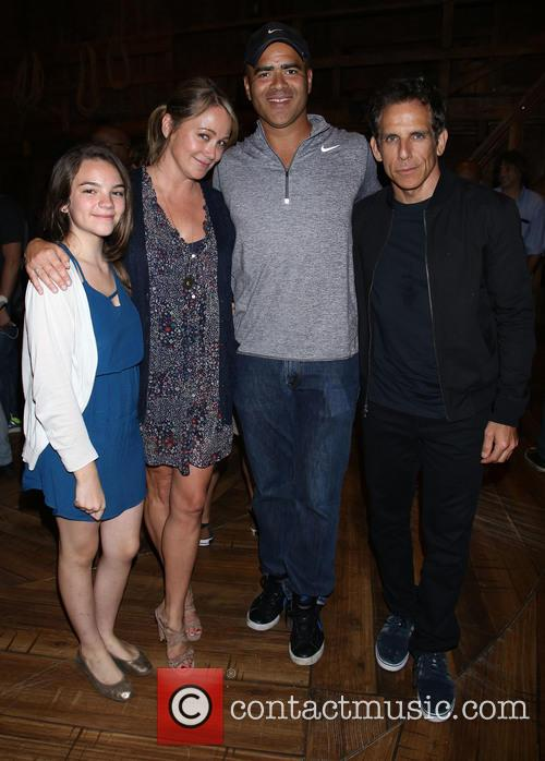 Ella Olivia Stiller, Christine Taylor, Christopher Jackson and Ben Stiller 1