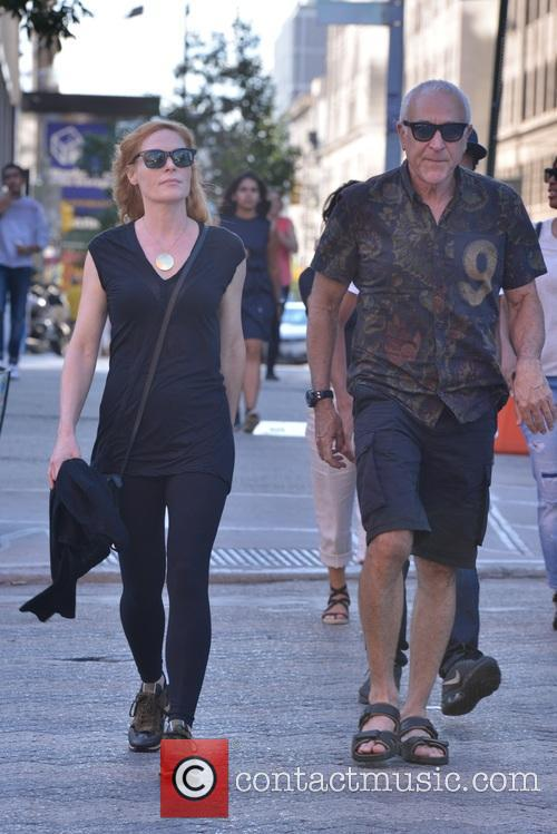 Marg Helgenberger and friend strolling in New York