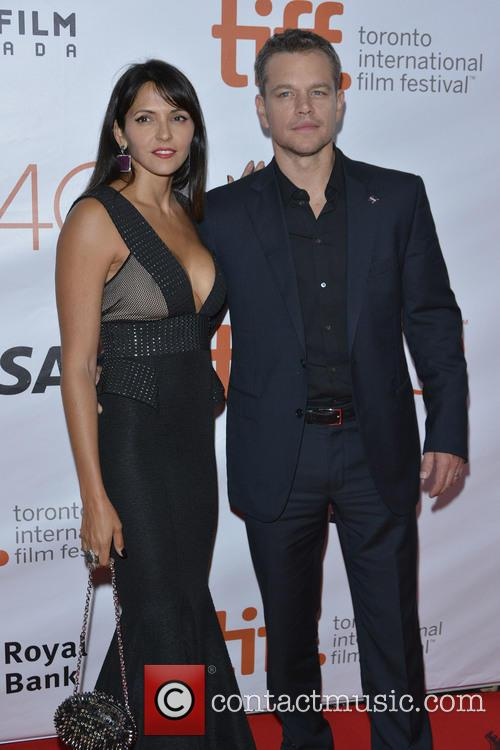 Matt Damon and Luciana Barroso 4