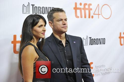 Matt Damon and Luciana Barroso 1