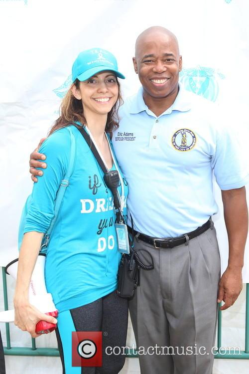 T.e.a.l. Co-founder, Ceo Pamela Esposito-amery and Brooklyn Borough President Eric L.adams 2