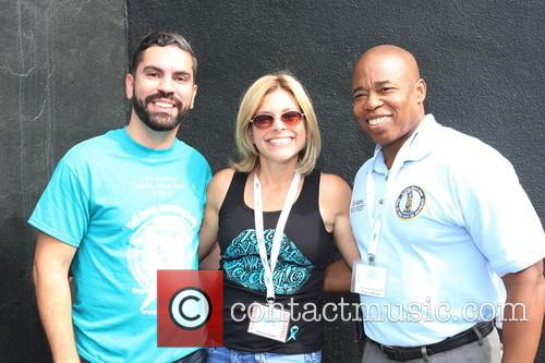 Rafael Espinal, Stacey Sager and Brooklyn Borough President Eric L.adams 1