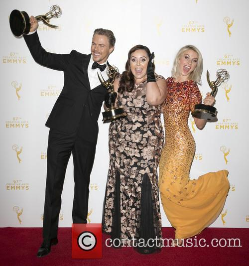 Derek Hough, Tessandra Chavez and Julianne Hough 1