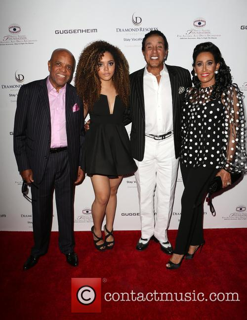 Berry Gordy, Mahogany Cheyenne Gordy, Smokey Robinson and Frances Glandney 2