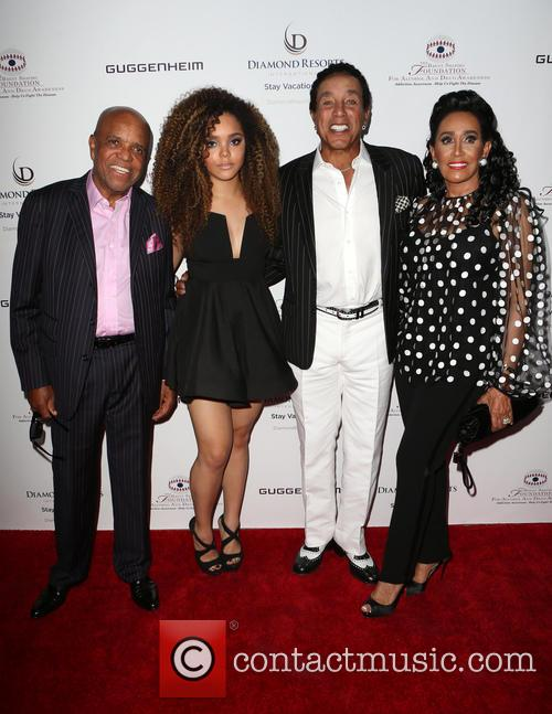 Berry Gordy, Mahogany Cheyenne Gordy, Smokey Robinson and Frances Glandney 3