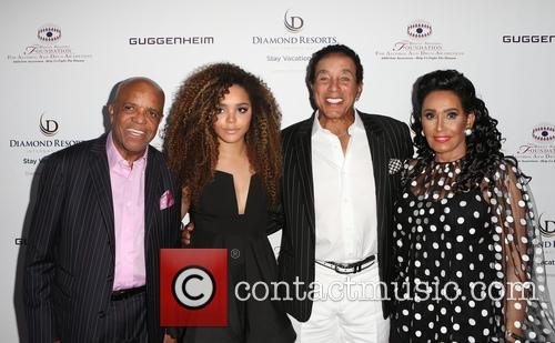 Berry Gordy, Mahogany Cheyenne Gordy, Smokey Robinson and Frances Glandney 1