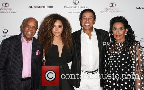 Berry Gordy, Mahogany Cheyenne Gordy, Smokey Robinson and Frances Glandney 6