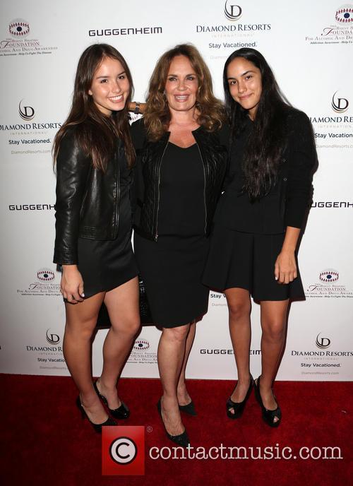 Catherine Bach, Sophia Isabella Lopez and Laura Esmeralda Lopez 1