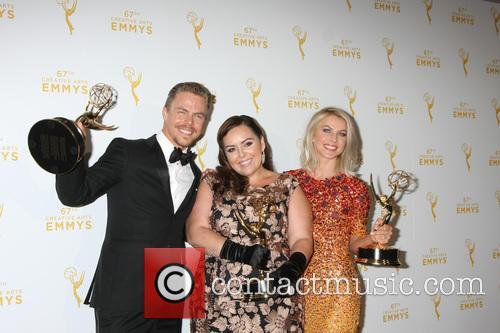 Derek Hough, Tessandra Chavez and Julianne Hough 2