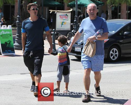 Orlando Bloom, Flynn Bloom and Colin Stone 1