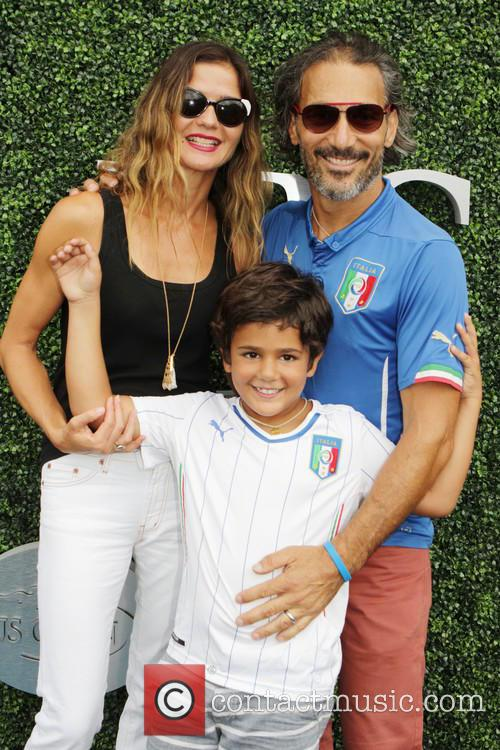 Jill Hennessey, Paolo Mastropietro and Son Marco