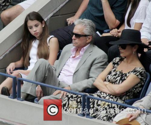 Michael Douglas, Catherine Zeta-jones and Carys Zeta Douglas 2