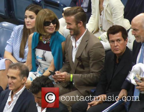 David Beckham, Anna Wintour and Simon Fuller 5