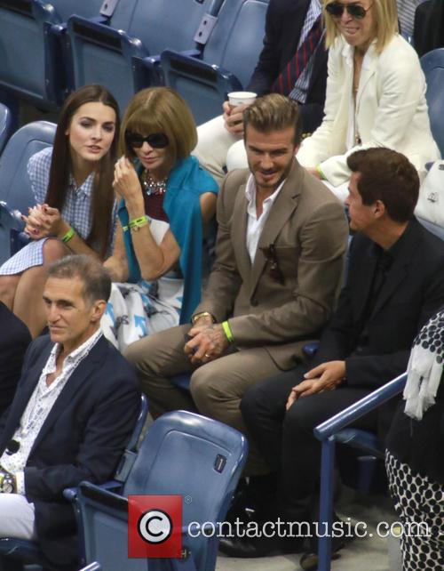 David Beckham, Anna Wintour and Simon Fuller 6