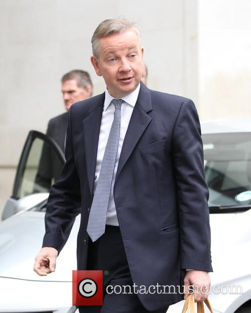 Michael Gove seen at the BBC for The...