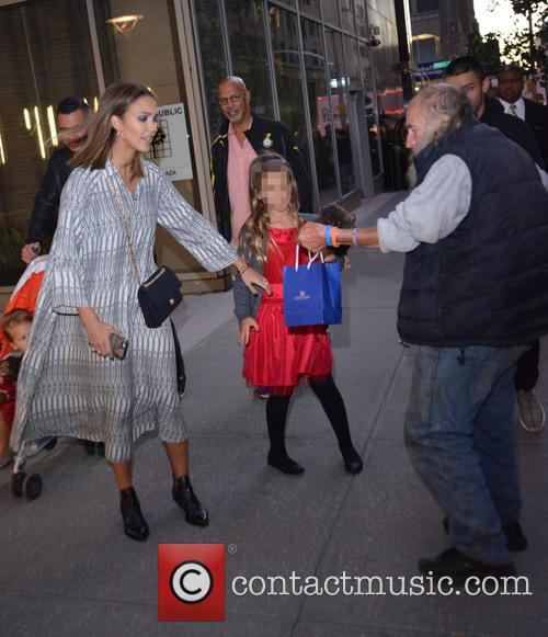 Jessica Alba out with her daughter in Manhattan