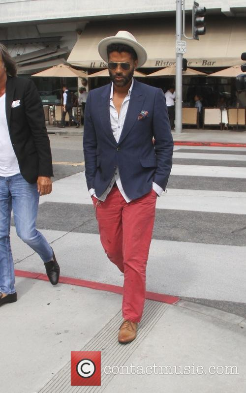 Eric Benet and Mohamed Hadid go for a...