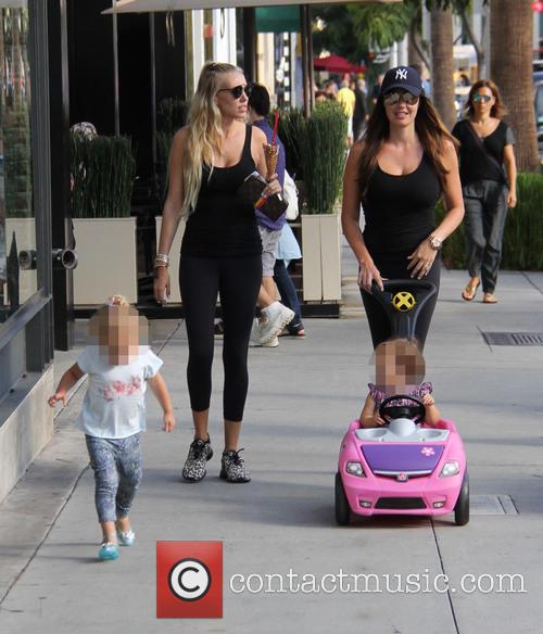 Tamara Ecclestone with her sister Petra go out...