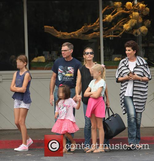 Denise Richards, Sam Sheen, Lola Rose Sheen and Eloise Joni Richards 11