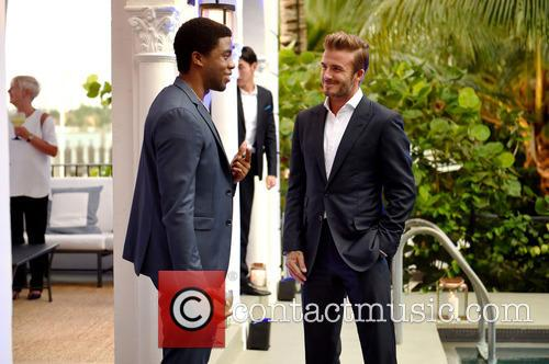 Chadwick Boseman and David Beckham