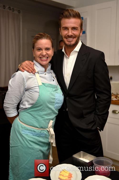 Michelle Bernstein and David Beckham 1