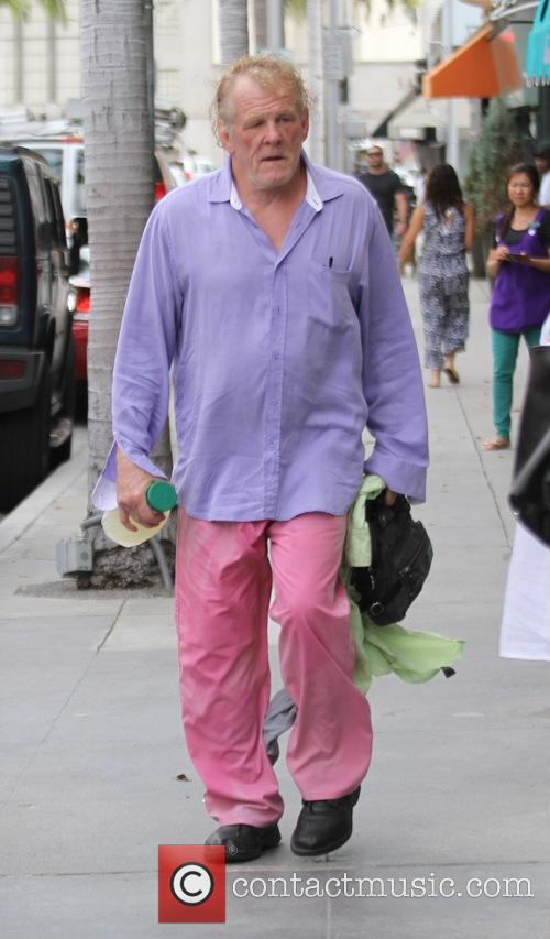 Nick Nolte grabs lunch at a deli in...