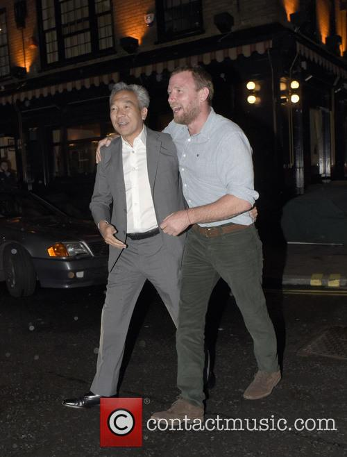 Guy Ritchie leaving Chiltern Firehouse
