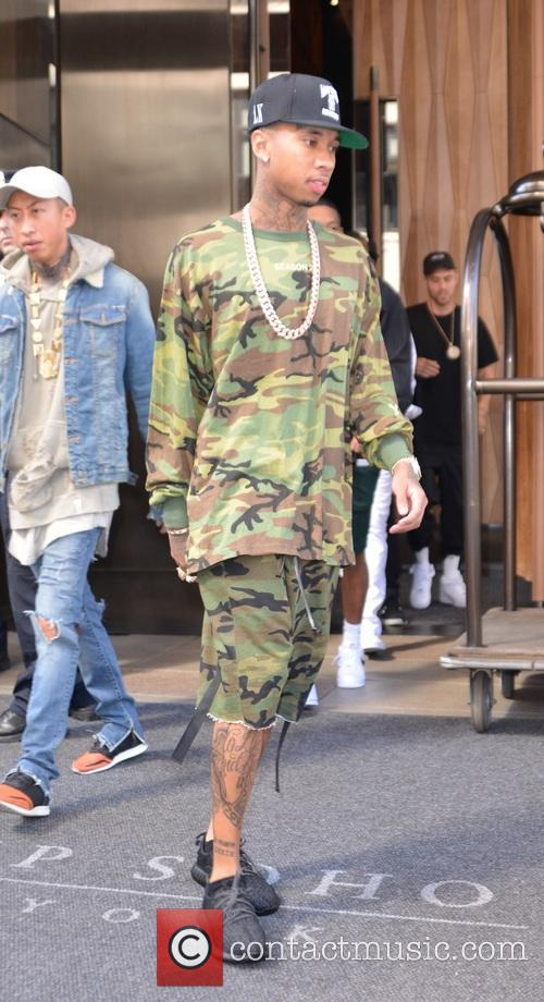 Tyga seen leaving his hotel in New York