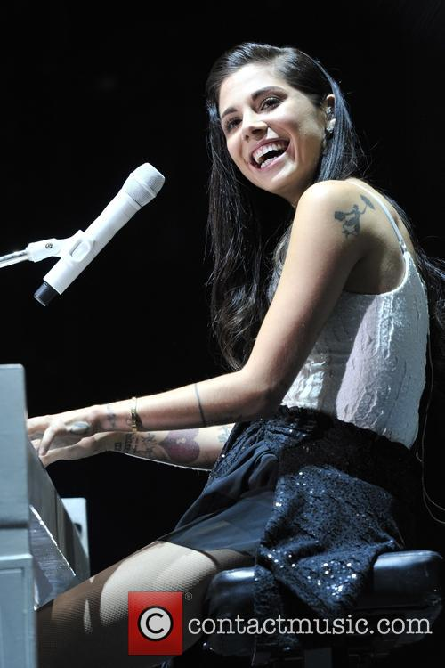 Christina Perri performing live in concert