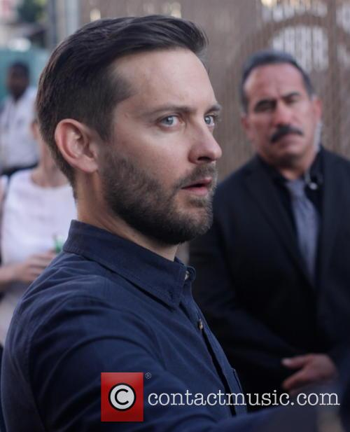 Tobey Maguire leaves the 'Jimmy Kimmel Live!' studios