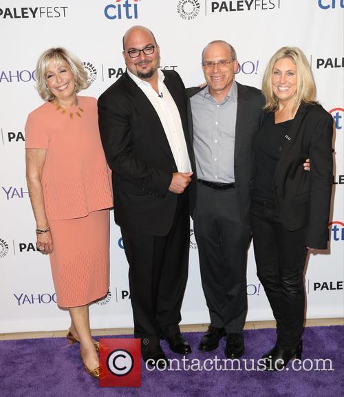 Carol Mendelsohn, Anthony E. Zuiker, Jonathan Littman and Ann Donahue 2