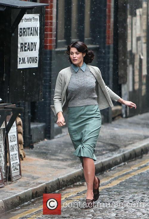 Gemma Arterton film set