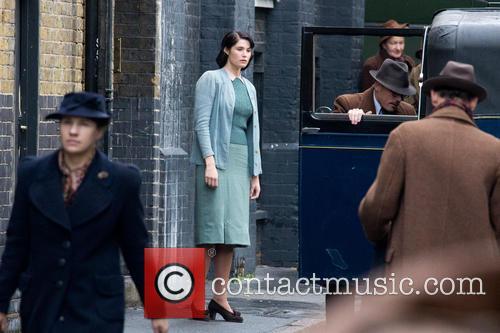 Gemma Arterton filming her new movie 'Their Finest...